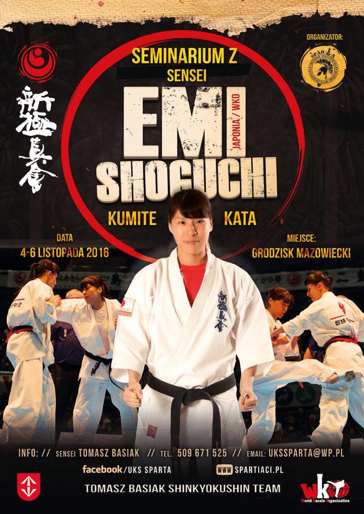 Seminarium kata i kumite z Mistrzynią Świata – Emi Shoguchi