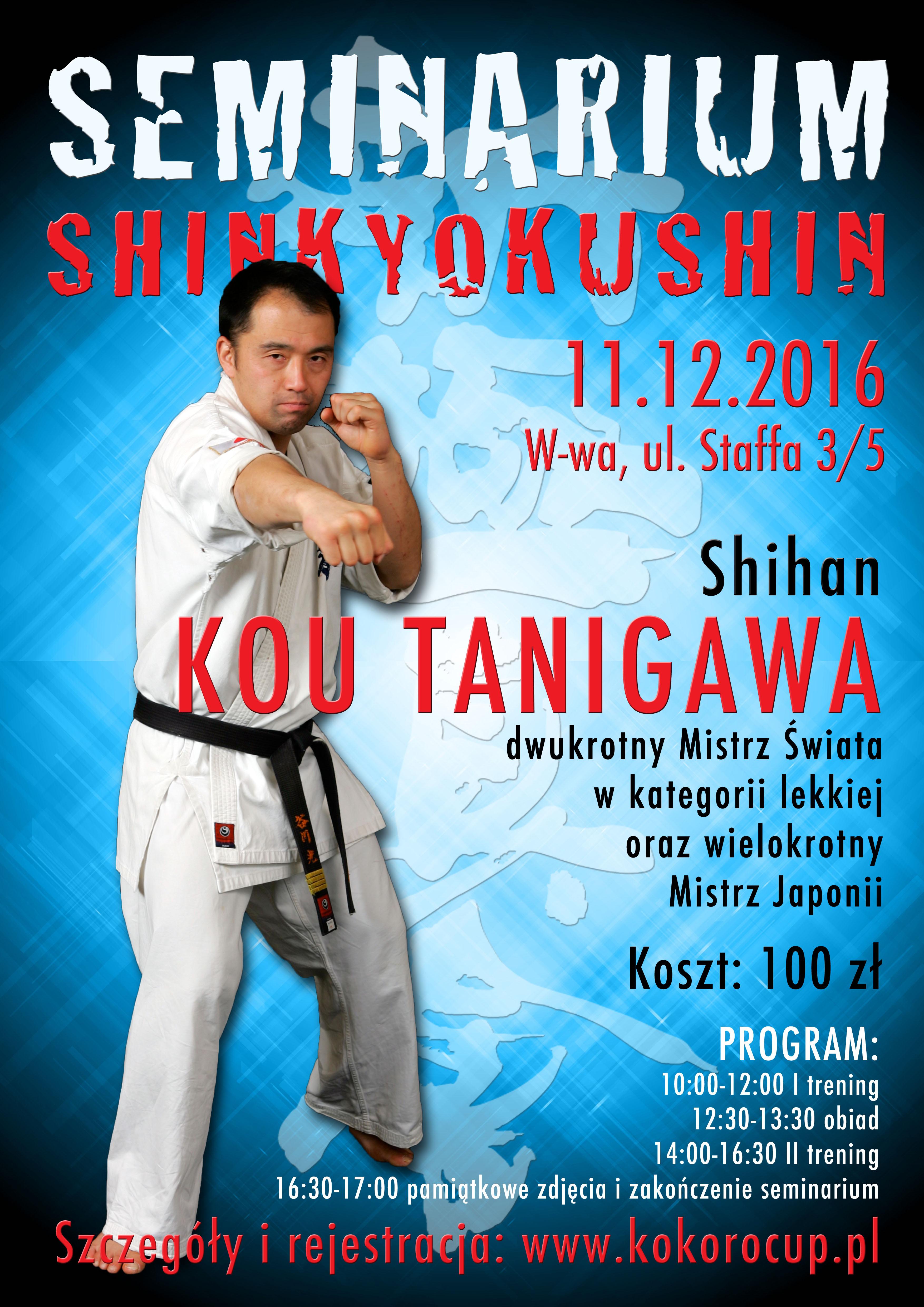 Seminarium z Shihan Kou Tanigawa 11.12.2016