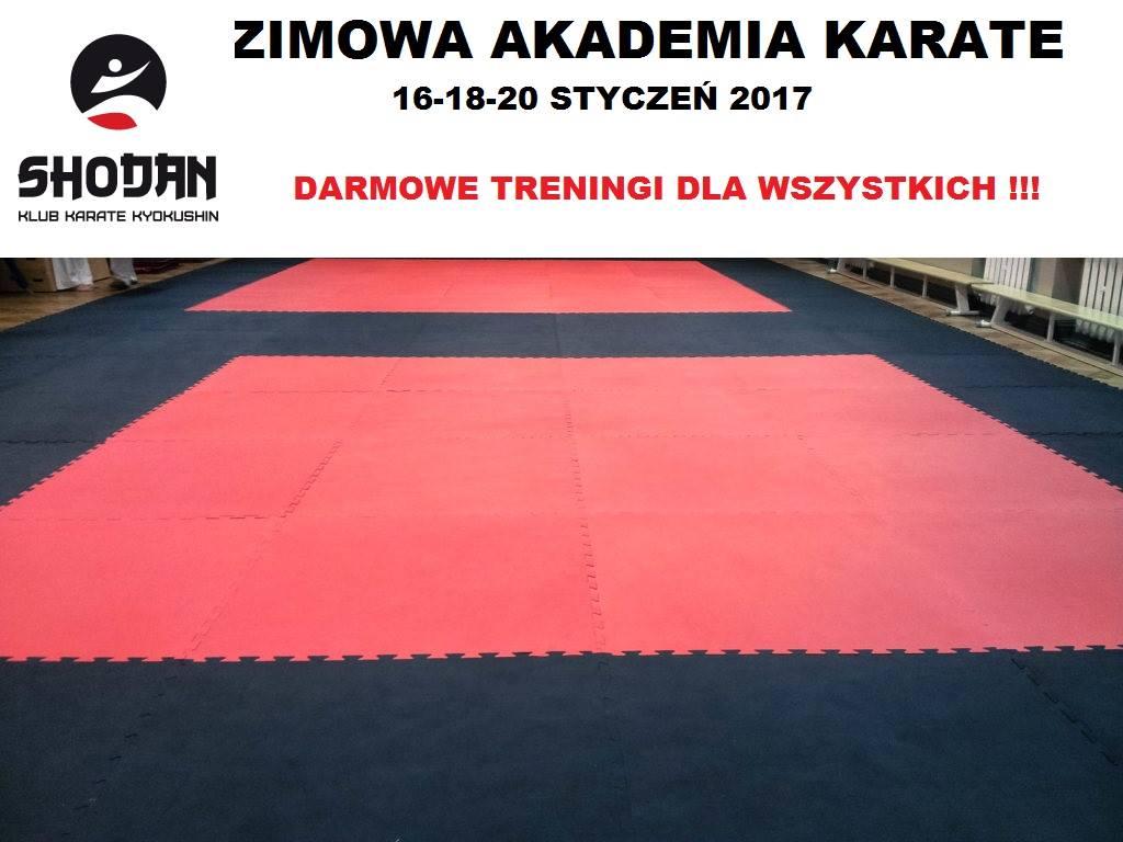 Zimowa Akademia Karate – Darmowe treningi dla wszystkich w ferie