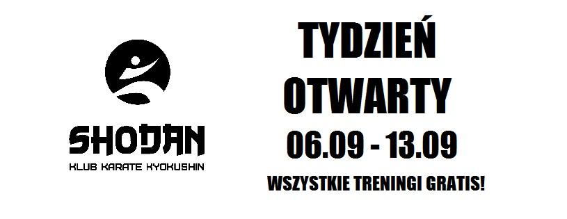 Tydzień otwarty w klubie Shodan 06.09 – 13.09. Wszystkie zajęcia gratis!
