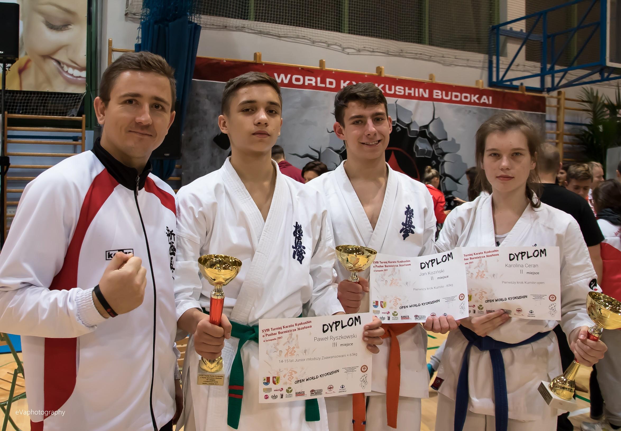 3 medale na XVIII Turnieju Karate Kyokushin o Puchar Burmistrza Józefowa.