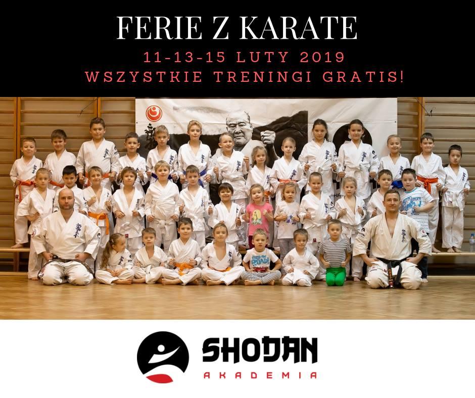 Zimowa Akademia Karate – edycja 2019! Darmowe treningi w ferie.