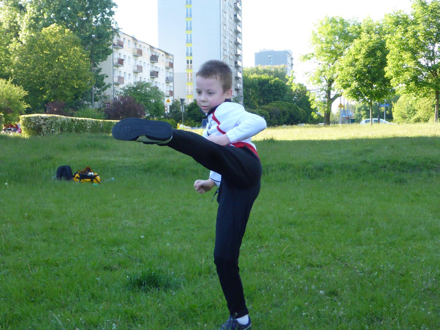 Treningi dla dzieci w Parku 3 Maja
