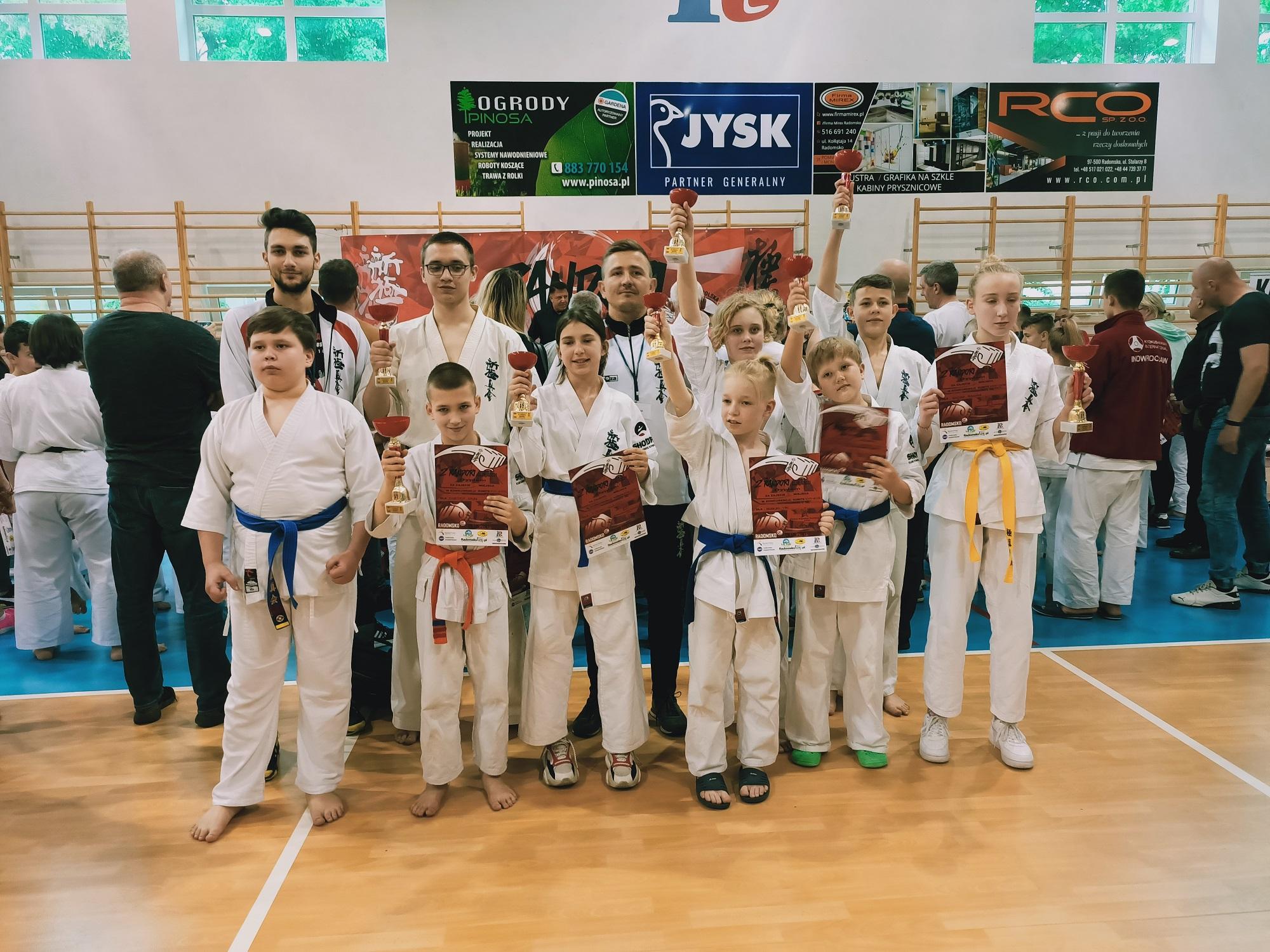 4 miejsce w klasyfikacji drużynowej kumite na turnieju Randori CUP w Radomsku